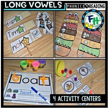 Long Vowel Activity Centers {Bundle of 4 Centers}