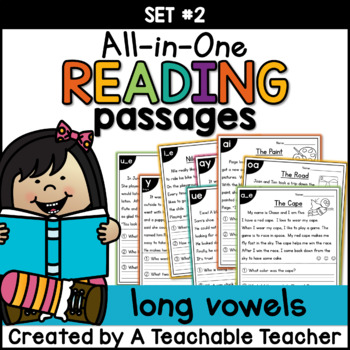 Long Vowel Reading Passages ~ All-in-One Set TWO|Distance Learning
