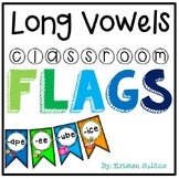 Long Vowel Anchor Chart and Classroom Flags