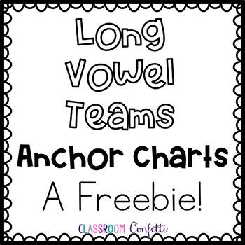 Long Vowel Anchor Charts Freebie