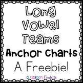 Long Vowel Anchor Charts Freebie