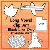 Long Vowel Clip Art Collection 147 Realistic BLACK LINE CL