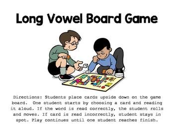 Long Vowel Board Game