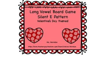 Long Vowel Board Game Silent E Pattern