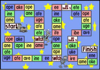 Long Vowel Board Game Phonics By Eslcity Teachers