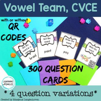 Long Vowel Board Games Bundle with QR Codes