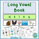 Long Vowel Book Activities Posters Bookmarks DIFFERENTIATED