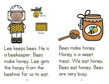 Long Vowel Book - Long Vowel Reader - Busy Bees