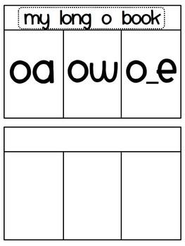 Long Vowels Hands On Sorting Book Activities BUNDLE