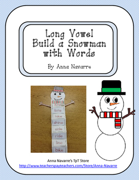 Long Vowel Build a Snowman with Words