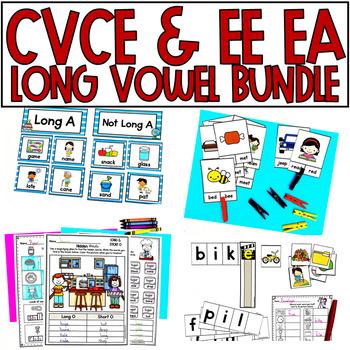 Long Vowel Bundle Magic E CVCe and EE & EA