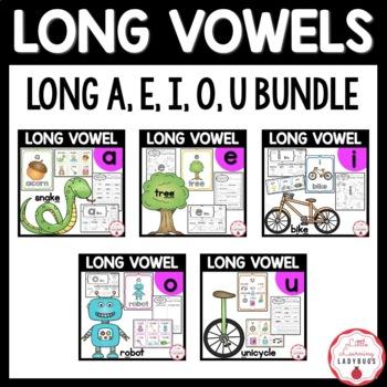 Long Vowel Bundle {long a, e, i, o, and u resources & printables}