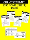Long Vowel Bundle with silent e Word Assessment