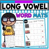 Long Vowel CVC-E Word Family Word Mats and Letter Tiles (Literacy Center)