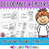 Long Vowel & CVC Word Decodable Stories (11 Books for Guided Reading Set 2)