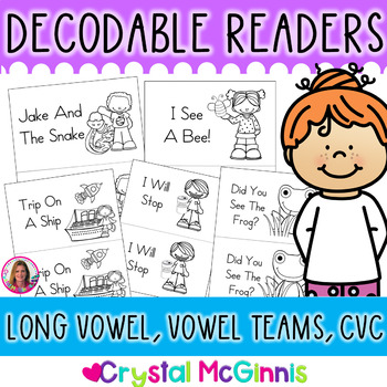 Long Vowel & CVC Word Decodable Stories (11 Books for Guid