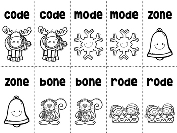Long Vowel CVCE Playing Cards {Christmas Themed}