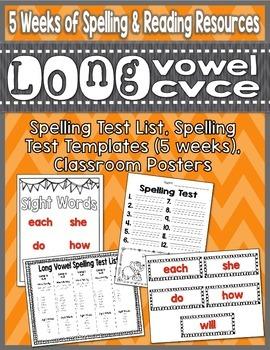 Long Vowel Phonics Word Work Bundle