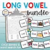 Long Vowel CVCe Domino BUNDLE | Phonics Activities for Lit