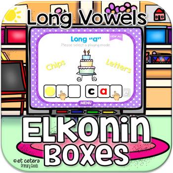 Long Vowel CVCe Elkonin Boxes ~ Interactive PowerPoint