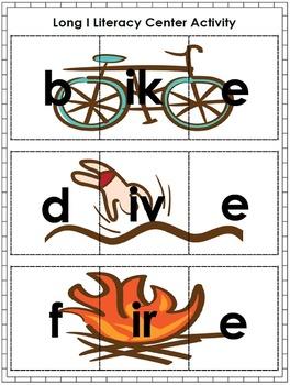 Long Vowel CVCe Fun: Literacy Center Activity Pack