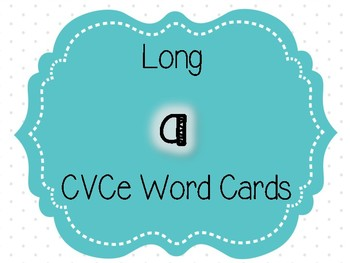 Long Vowel CVCe Word Cards