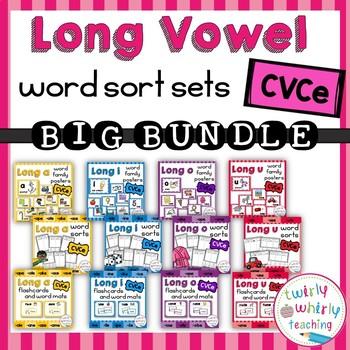 Long Vowel Word Sort Sets CVCe Big Bundle