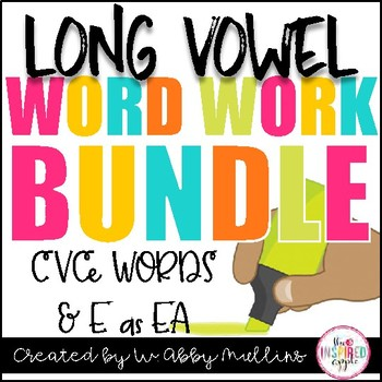 Long Vowel CVCe Word Work for Literacy Centers BUNDLE