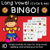 Long Vowel (CVCe & ee) Bingo with Write-in Words!
