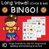 Long Vowel (CVCe & ee) Bingo with Write-in Words!