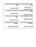 Long Vowel (CVCe) fluency practice