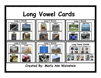 Long Vowel Cards