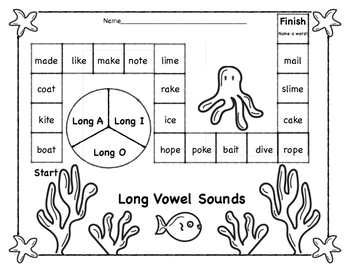 Long Vowel Center Game