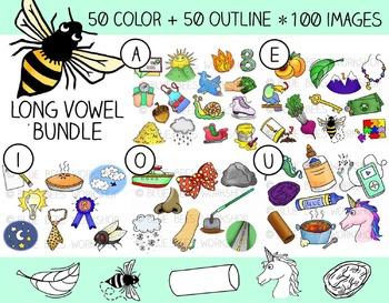 Long Vowel Clip Art Bundle