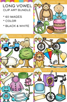 Long Vowel Clip Art Bundle