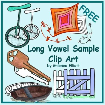 Long Vowel Clip Art Sample Freebie