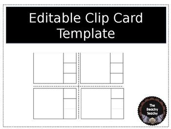 Editable Clip Card Template