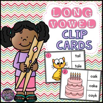Long Vowel Clip Cards (Vowel Teams &  CVCe)