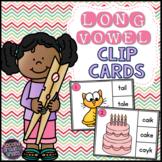 Long Vowels Clip Cards (Vowel Teams &  CVCe)