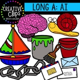 Long Vowel Clipart: AI Words {Creative Clips Digital Clipart}