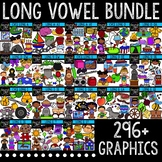 Long Vowel Clipart Bundle {Creative Clips Digital Clipart}