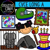 Long Vowel Clipart: CVCE A Words {Creative Clips Digital Clipart}