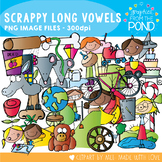 Long Vowel Clipart - Scrappy Style