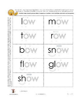 Color-the-Code: Long Vowel __ow Flashcards