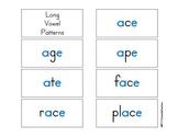 Long Vowel Color Flash Cards