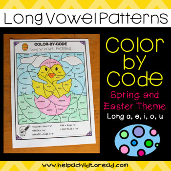 Long Vowel Color-by-Code (Spring & Easter)