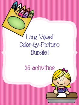 Long Vowel Color-by-Picture Bundle {16 activities}