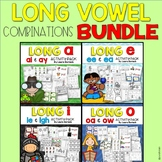 Long Vowel Combinations {ee/ea, ai/ay, ie/igh, oa/ow} ~ Activity Pack BUNDLE