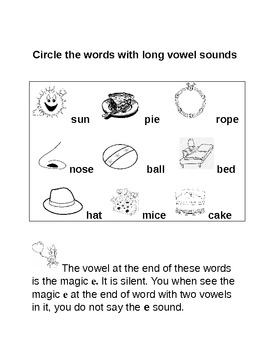 Long Vowel Common Core Lesson WITH chant