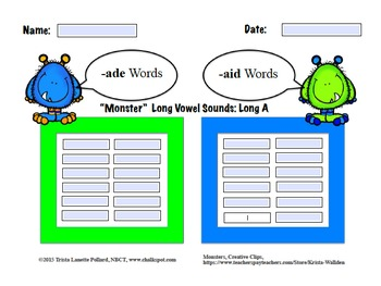 Word Sorts: Long Vowel Three Letter Word Families (Computer)